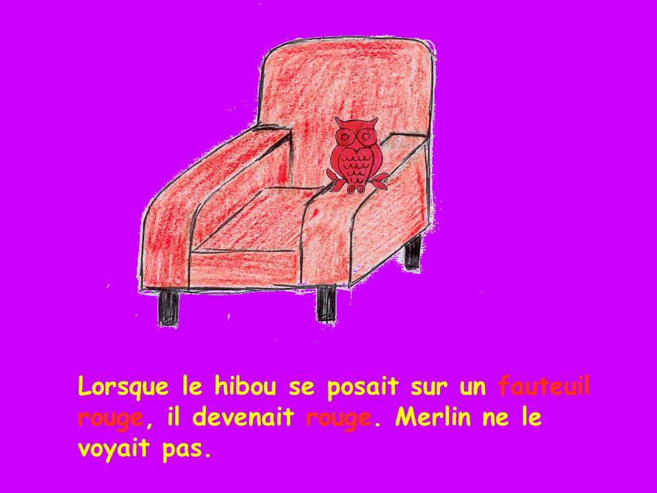 Lorsque le hibou se posait sur un fauteuil rouge, il devenait rouge