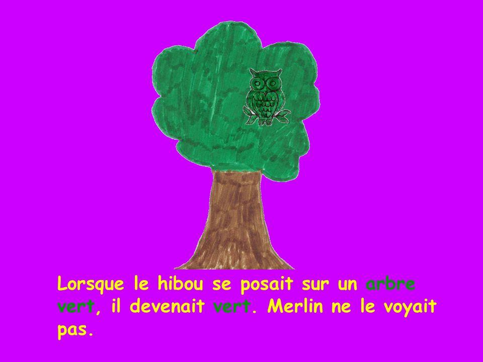 Lorsque le hibou se posait sur un arbre vert, il devenait vert