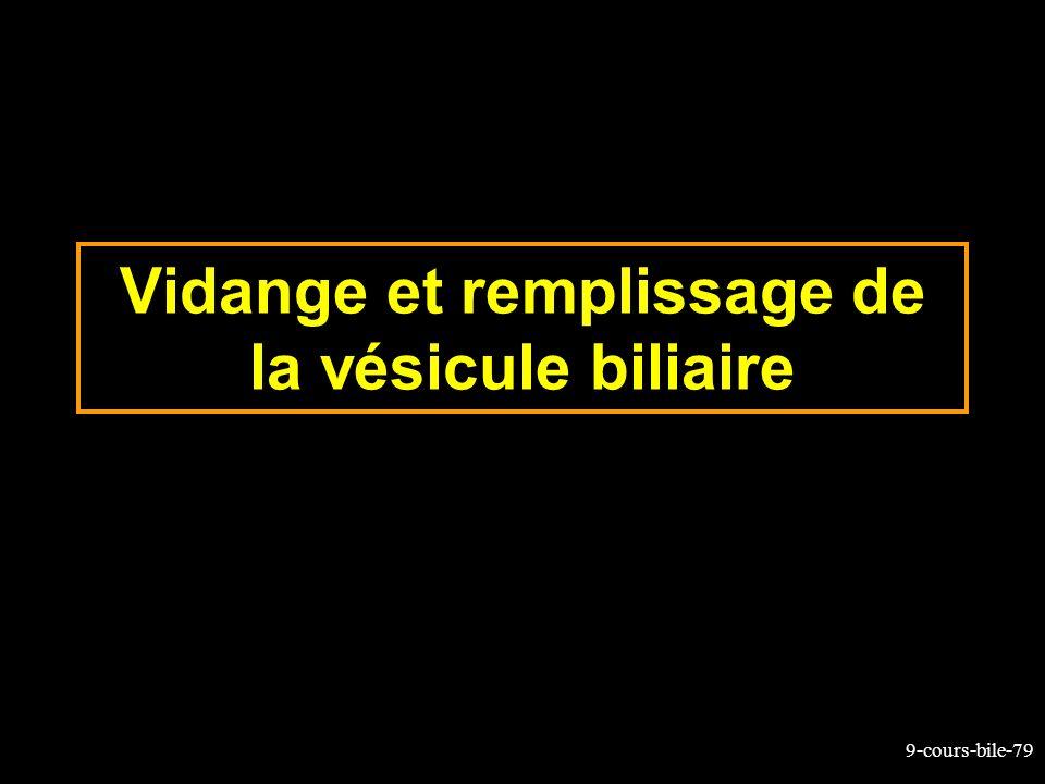 Vidange et remplissage de la vésicule biliaire
