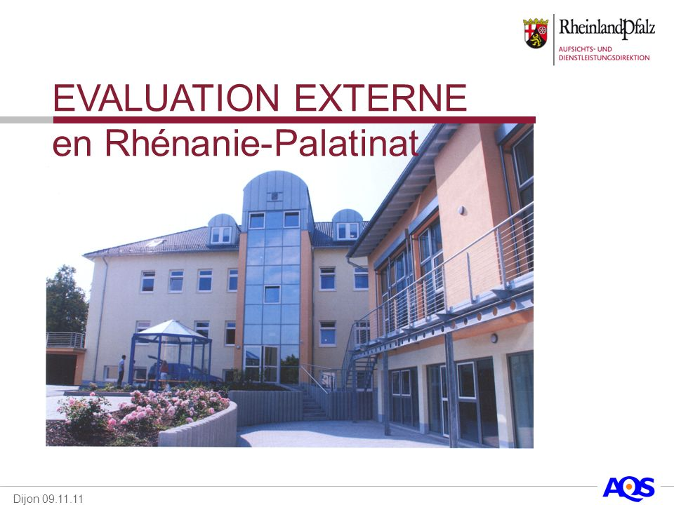 EVALUATION EXTERNE en Rhénanie-Palatinat
