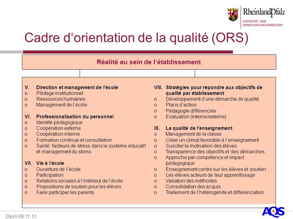 Cadre d'orientation de la qualité (ORS)