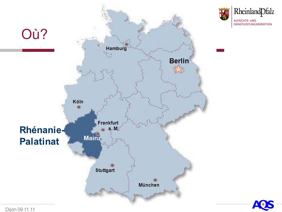 Où Rhénanie-Palatinat Berlin Mainz Hamburg Köln Frankfurt a. M.