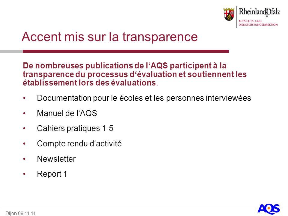Accent mis sur la transparence