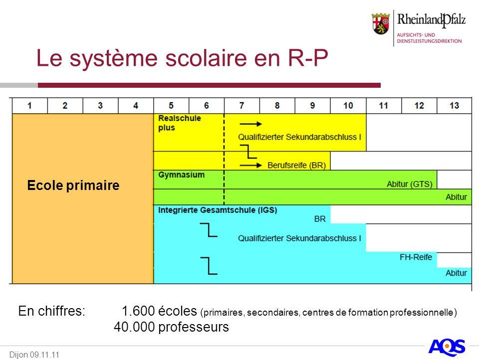 Le système scolaire en R-P