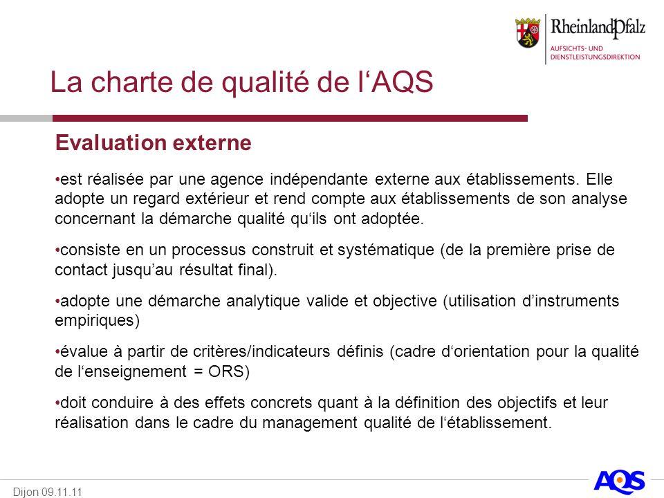 La charte de qualité de l'AQS