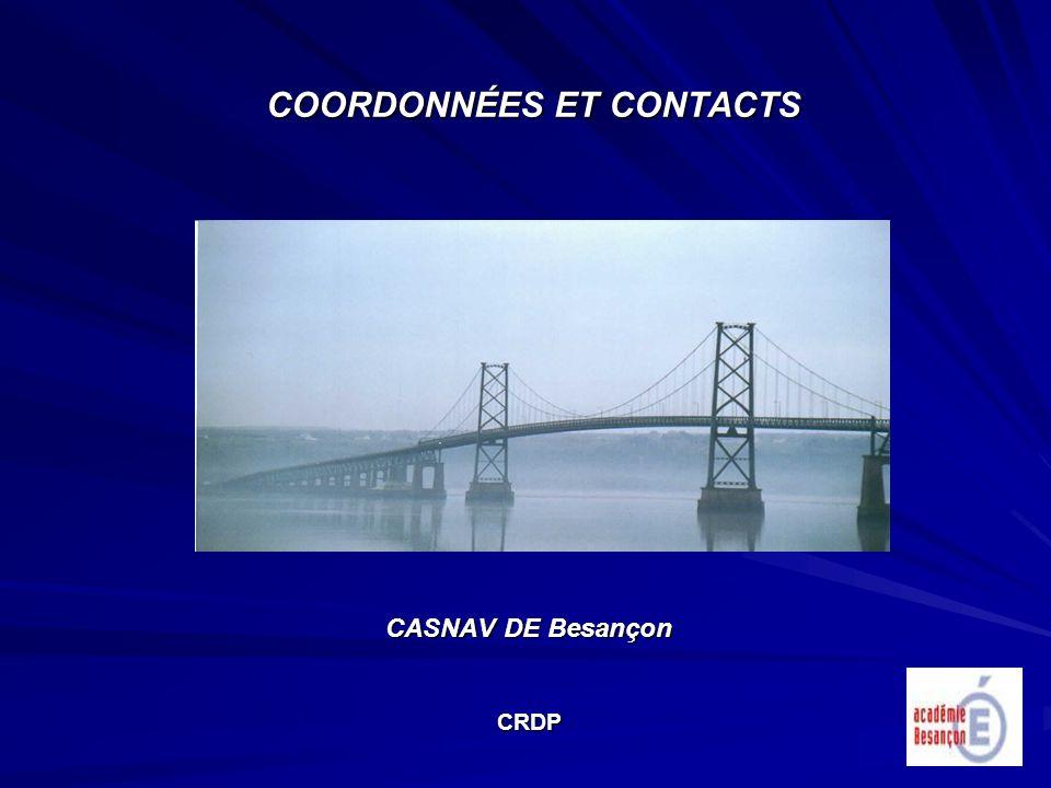 COORDONNÉES ET CONTACTS