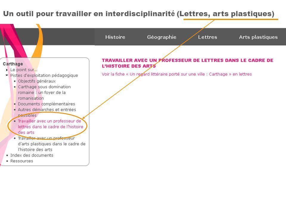 Un outil pour travailler en interdisciplinarité (Lettres, arts plastiques)