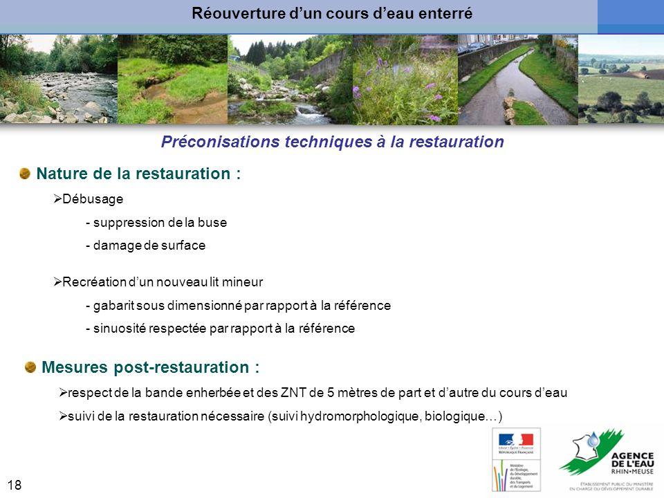 Préconisations techniques à la restauration