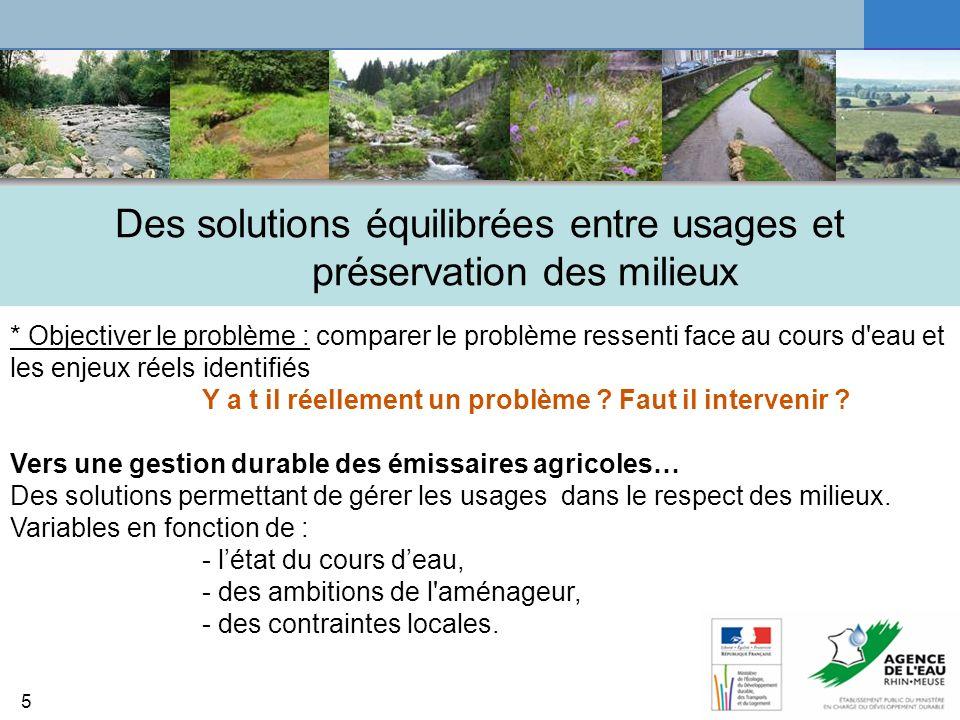 Des solutions équilibrées entre usages et préservation des milieux