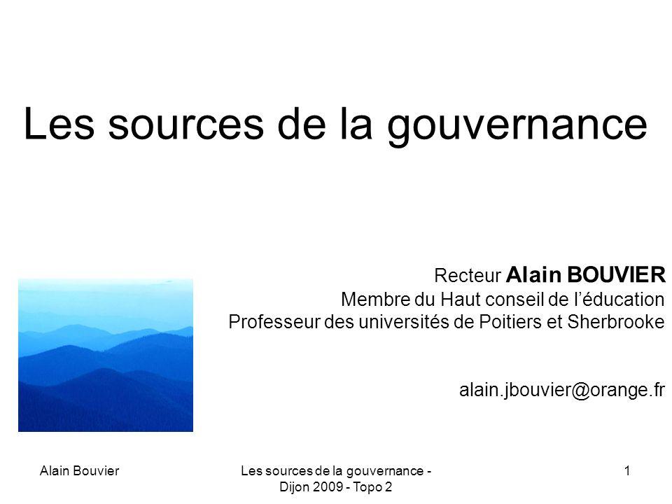 Les sources de la gouvernance