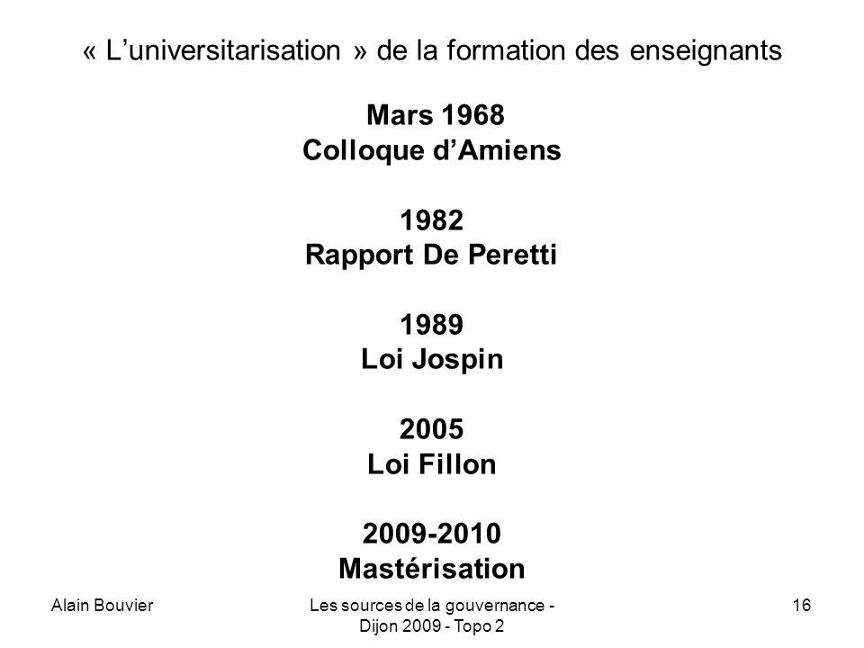 « L'universitarisation » de la formation des enseignants