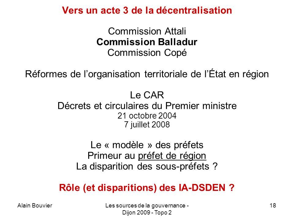 Vers un acte 3 de la décentralisation