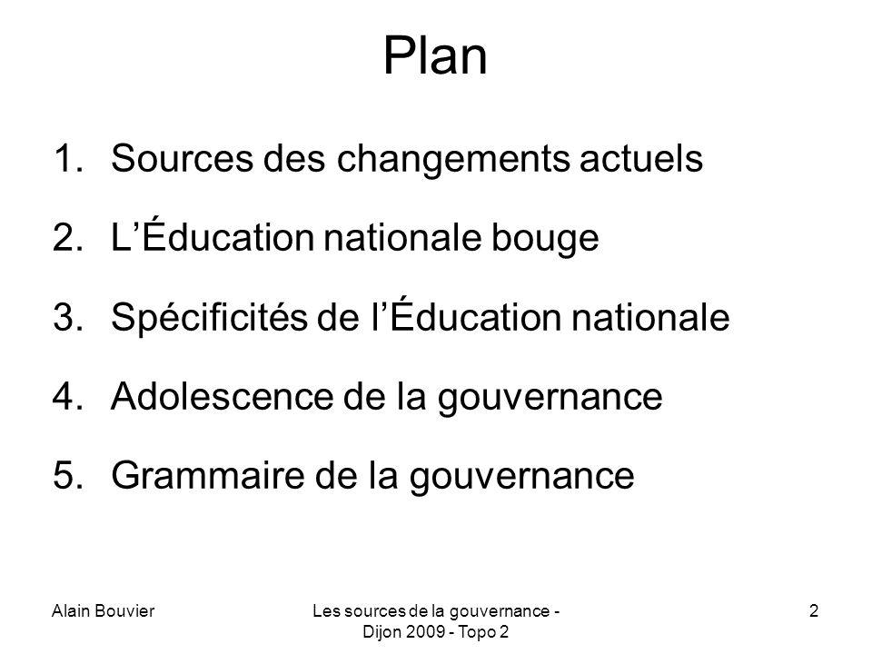 Les sources de la gouvernance - Dijon 2009 - Topo 2