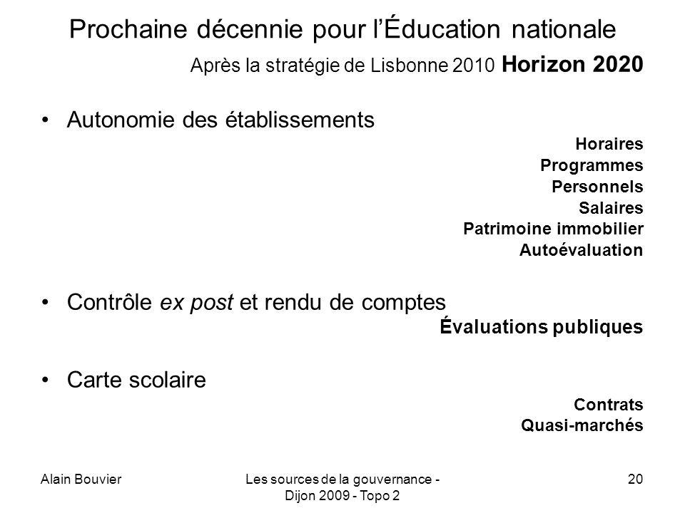 Prochaine décennie pour l'Éducation nationale
