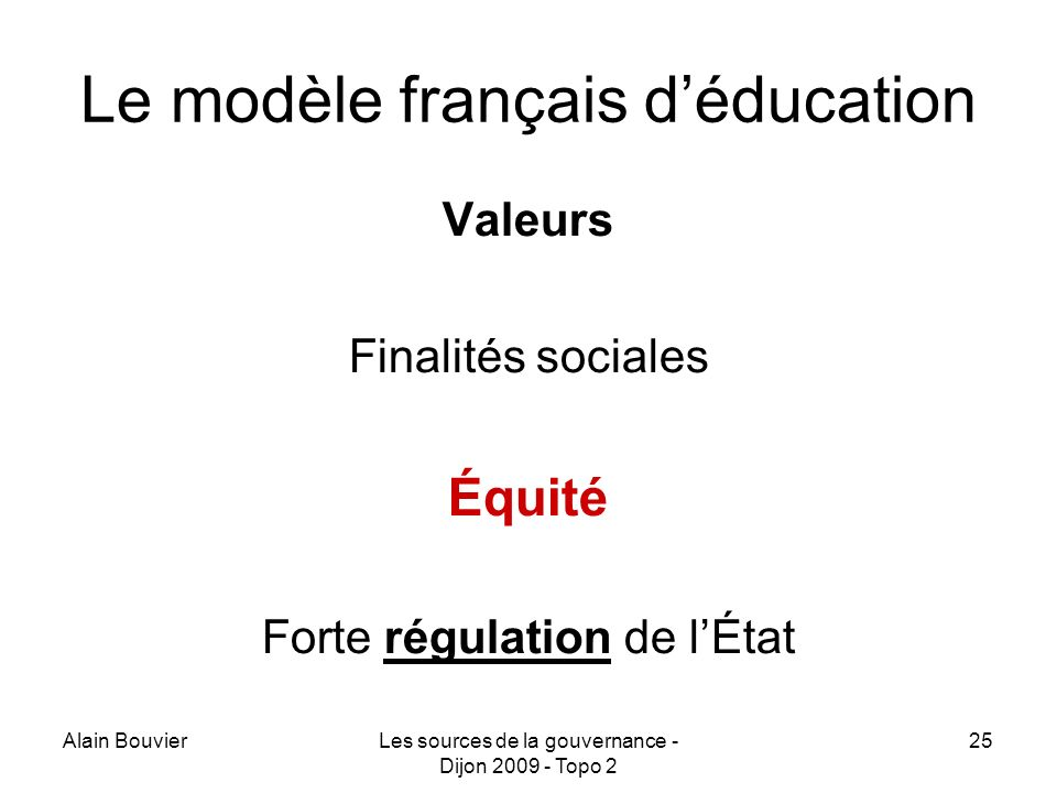 Le modèle français d'éducation