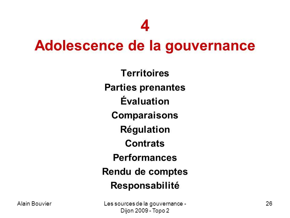 4 Adolescence de la gouvernance
