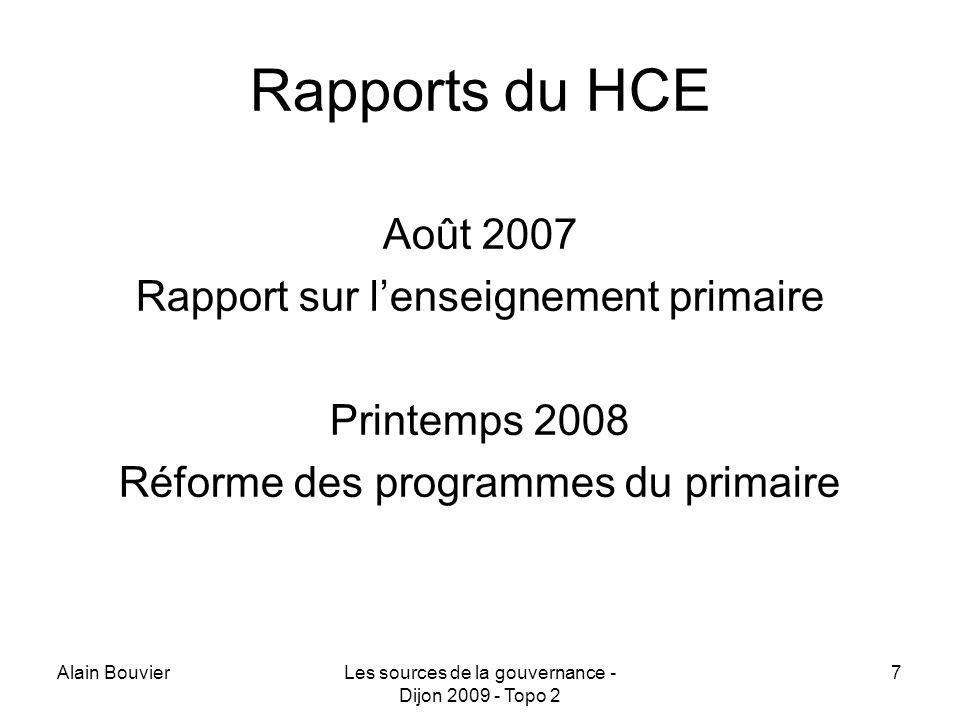 Rapports du HCE Août 2007 Rapport sur l'enseignement primaire