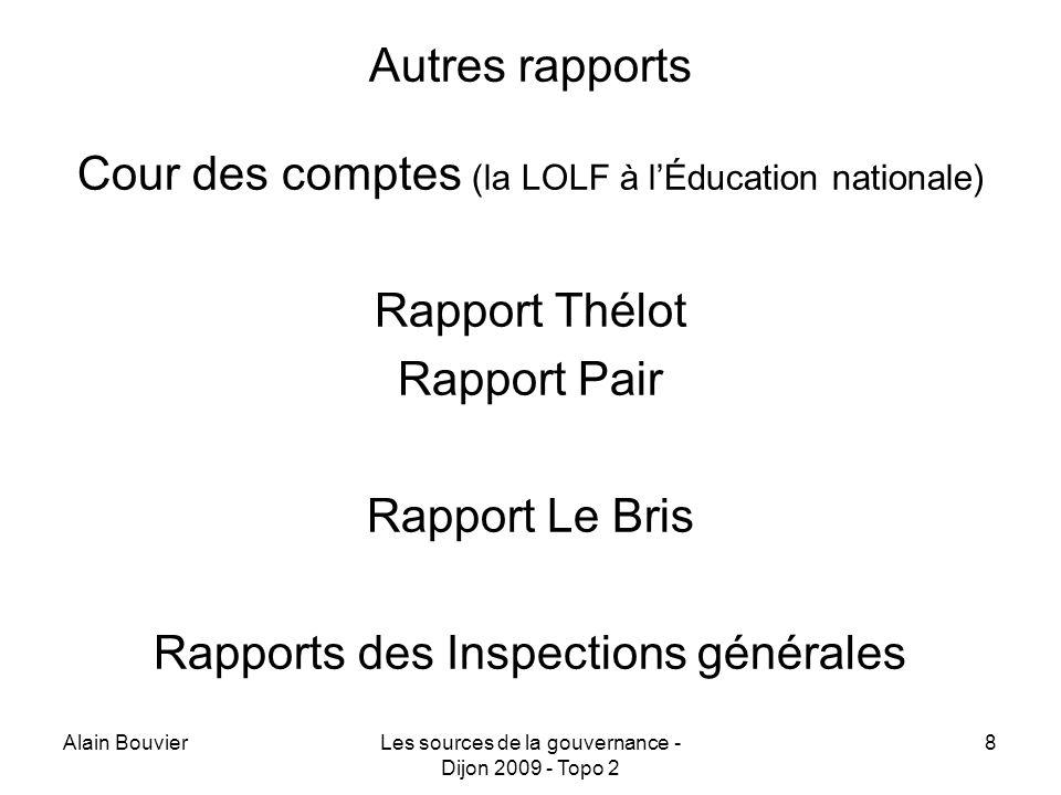 Cour des comptes (la LOLF à l'Éducation nationale) Rapport Thélot
