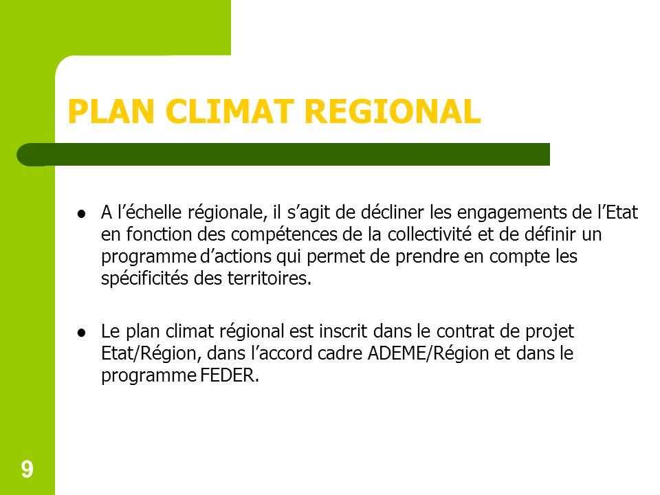 PLAN CLIMAT REGIONAL