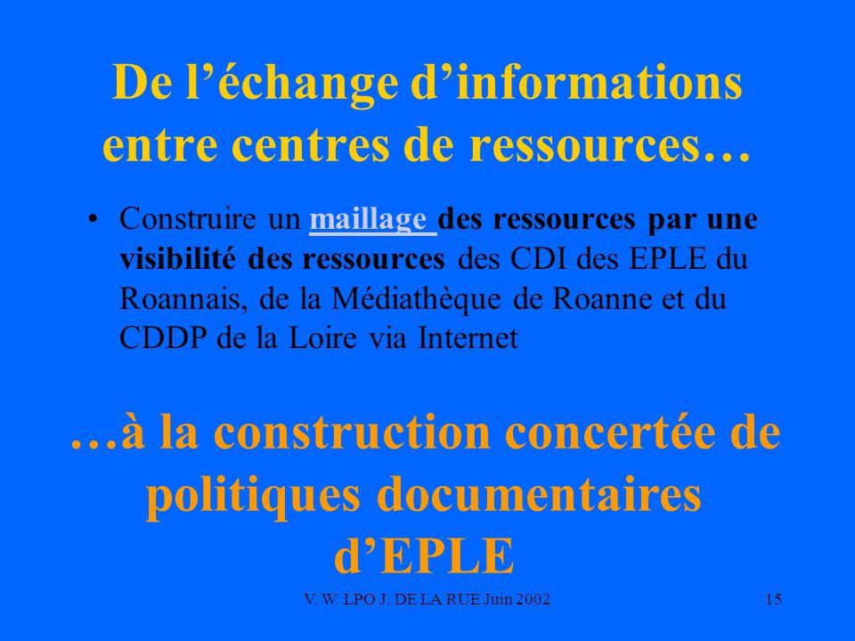 De l'échange d'informations entre centres de ressources…