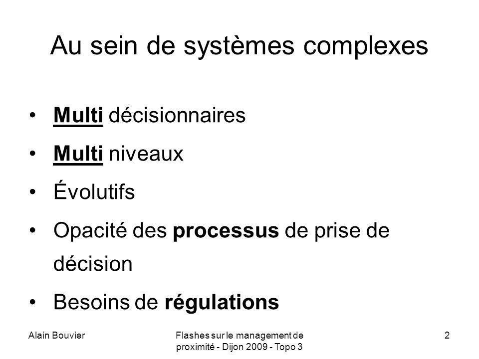 Au sein de systèmes complexes