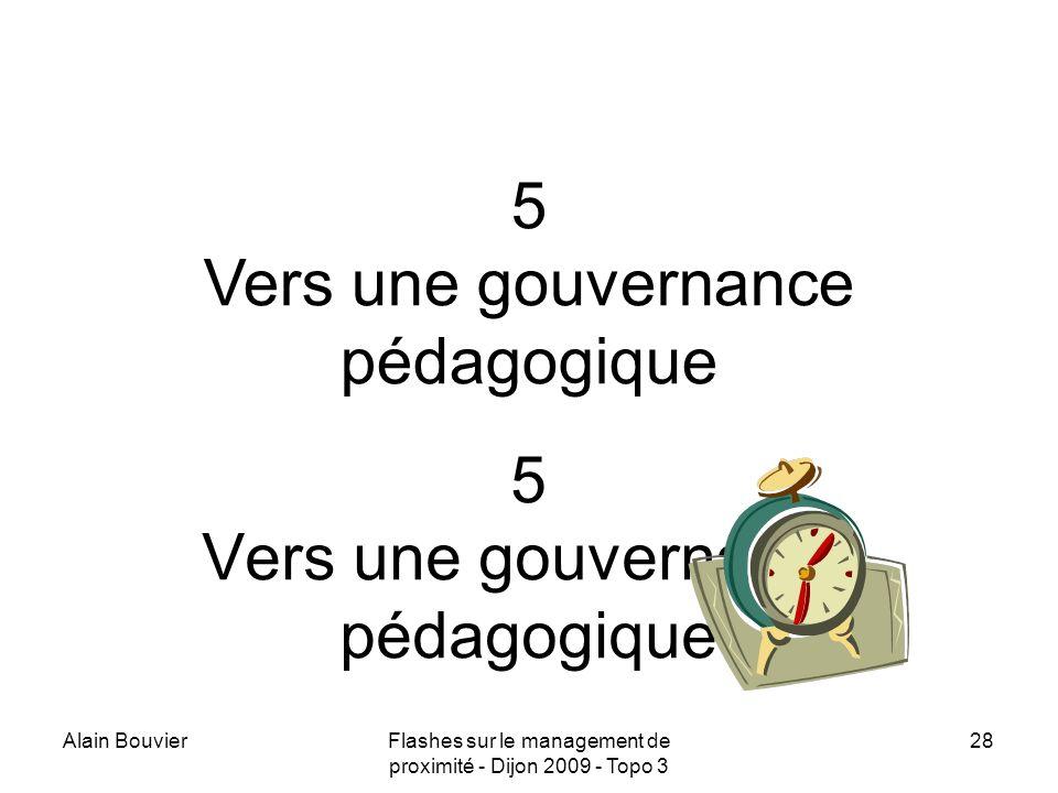 Recteur Alain Bouvier 5 Vers une gouvernance pédagogique