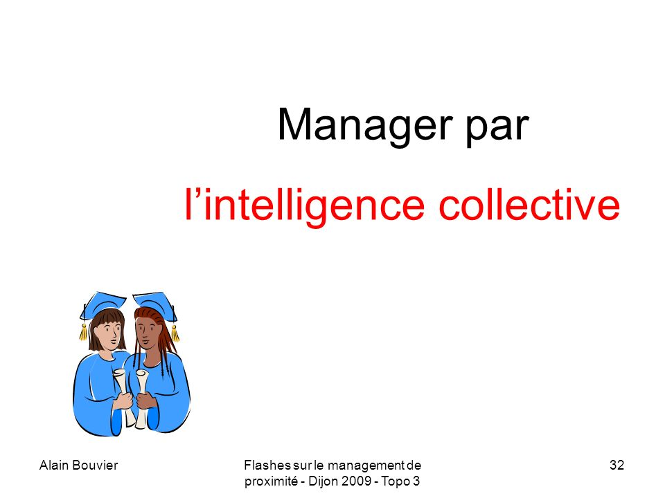 Recteur Alain Bouvier Manager par l'intelligence collective