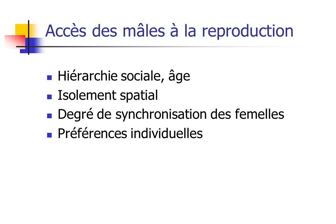 Accès des mâles à la reproduction