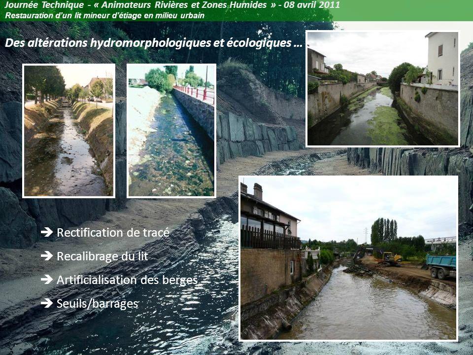 Des altérations hydromorphologiques et écologiques …