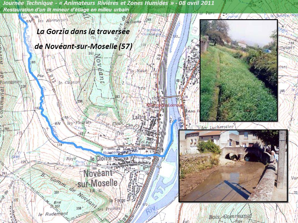 La Gorzia dans la traversée de Novéant-sur-Moselle (57)