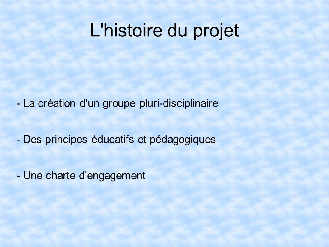 L histoire du projet - La création d un groupe pluri-disciplinaire
