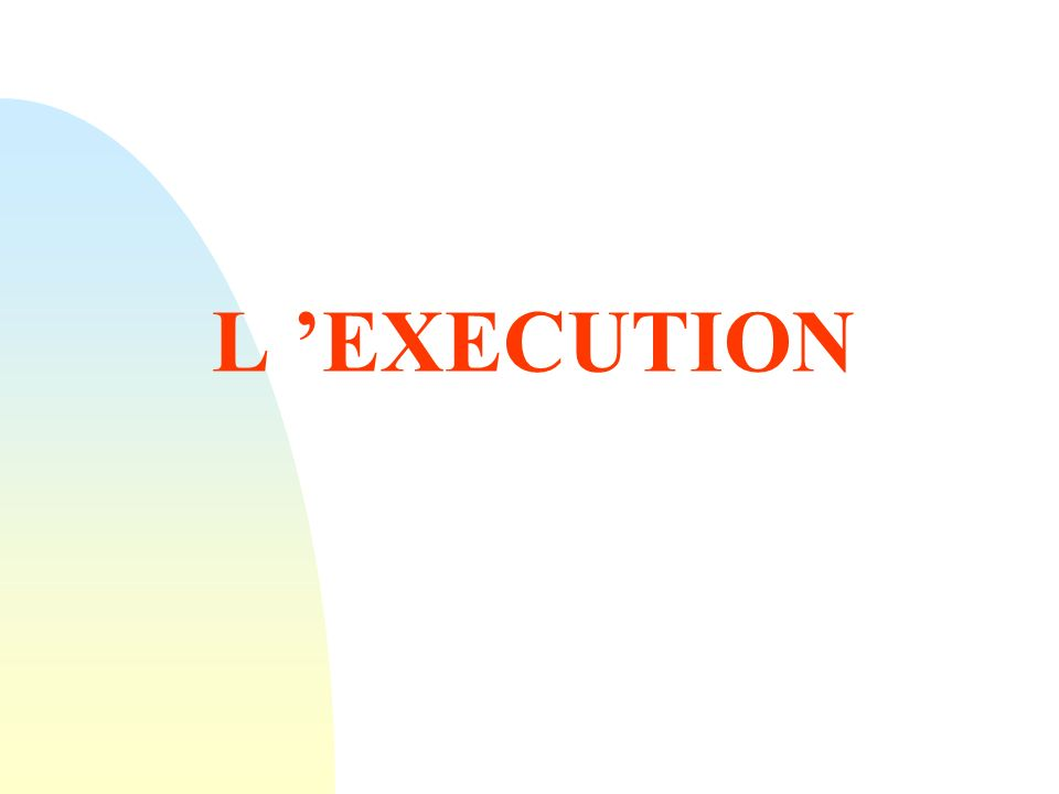 L 'EXECUTION