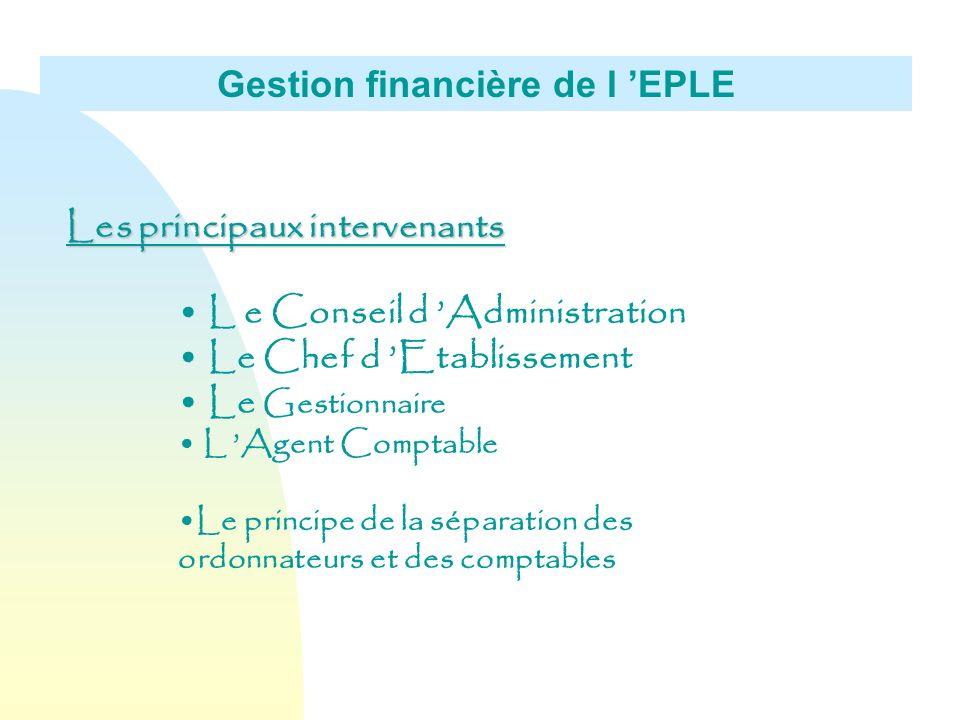 Gestion financière de l 'EPLE