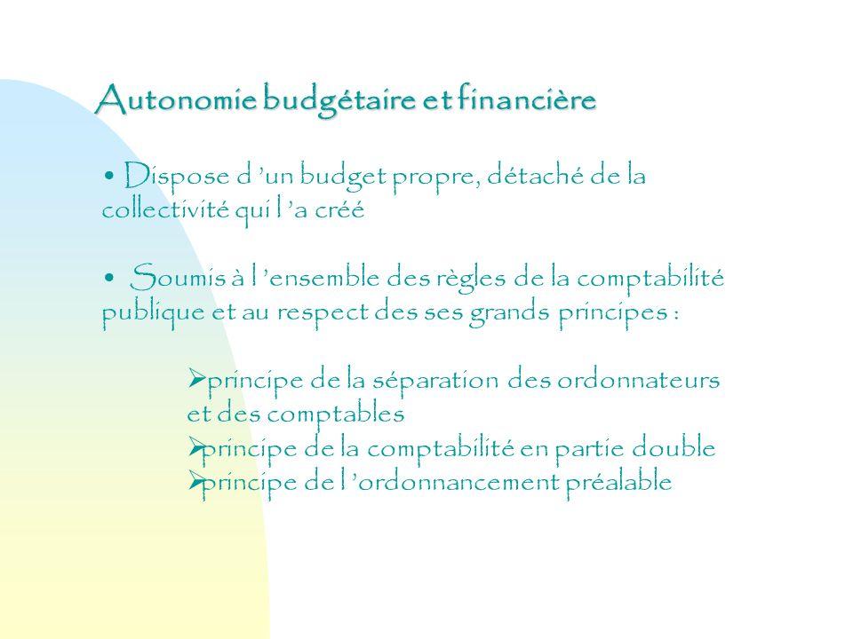 Autonomie budgétaire et financière