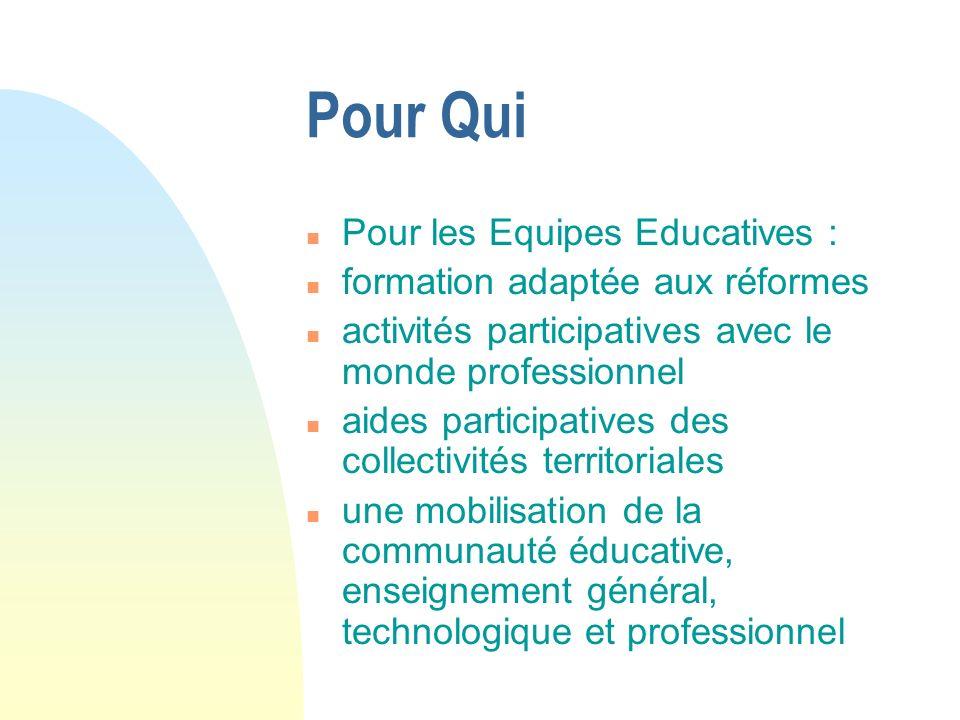 Pour Qui Pour les Equipes Educatives : formation adaptée aux réformes