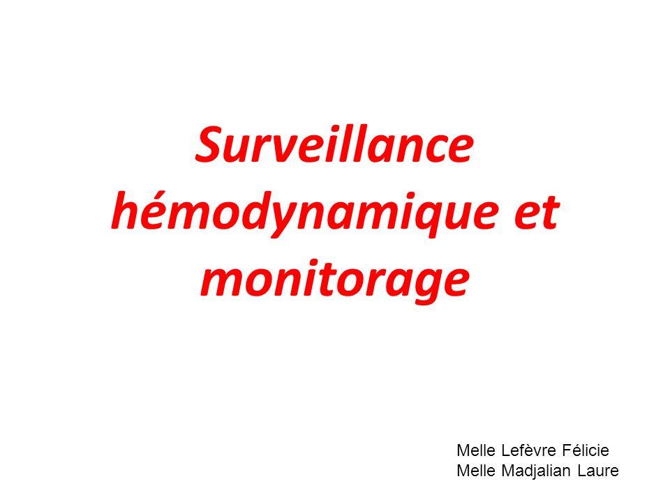 Surveillance hémodynamique et monitorage