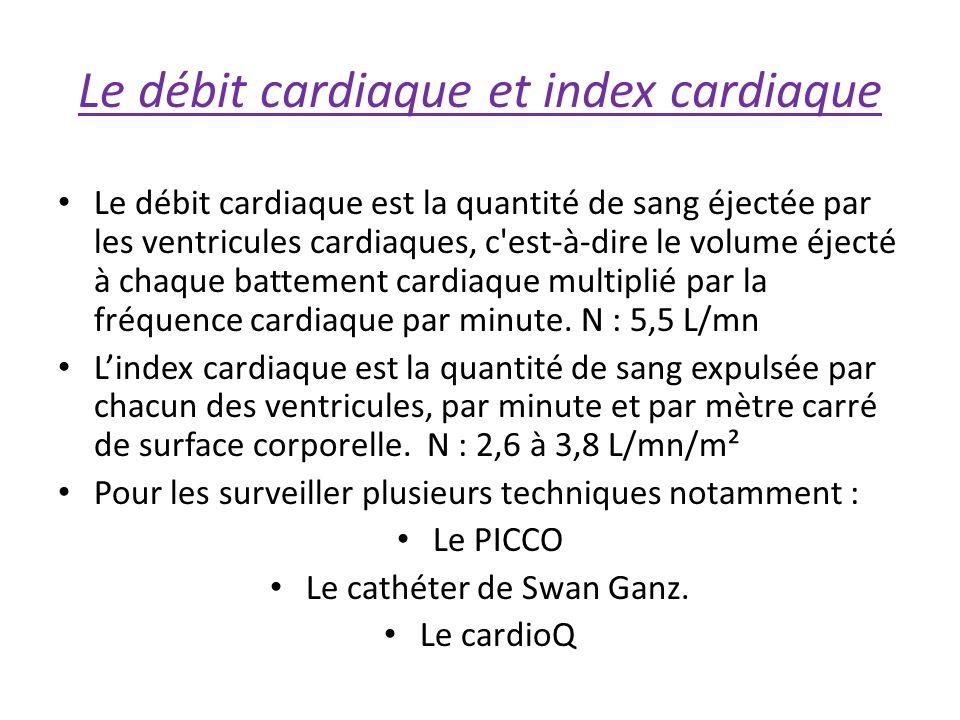 Le débit cardiaque et index cardiaque