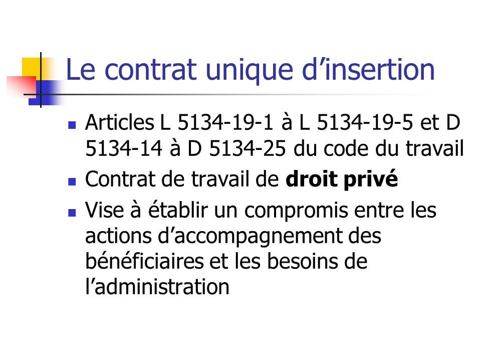 Le contrat unique d'insertion