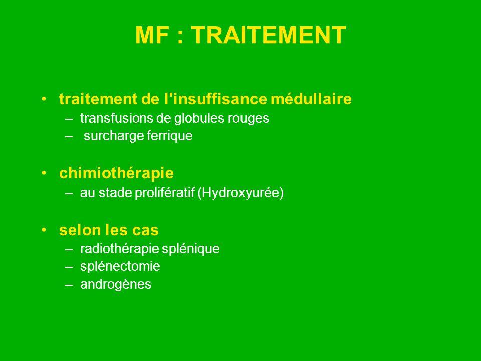 MF : TRAITEMENT traitement de l insuffisance médullaire chimiothérapie