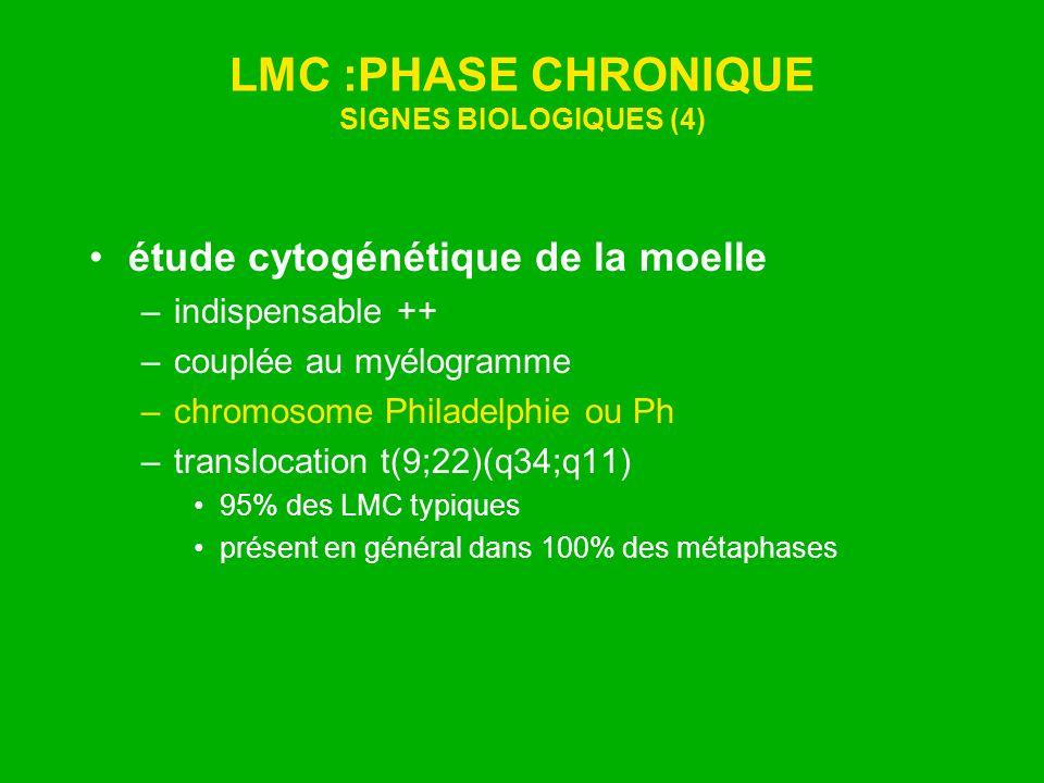 LMC :PHASE CHRONIQUE SIGNES BIOLOGIQUES (4)