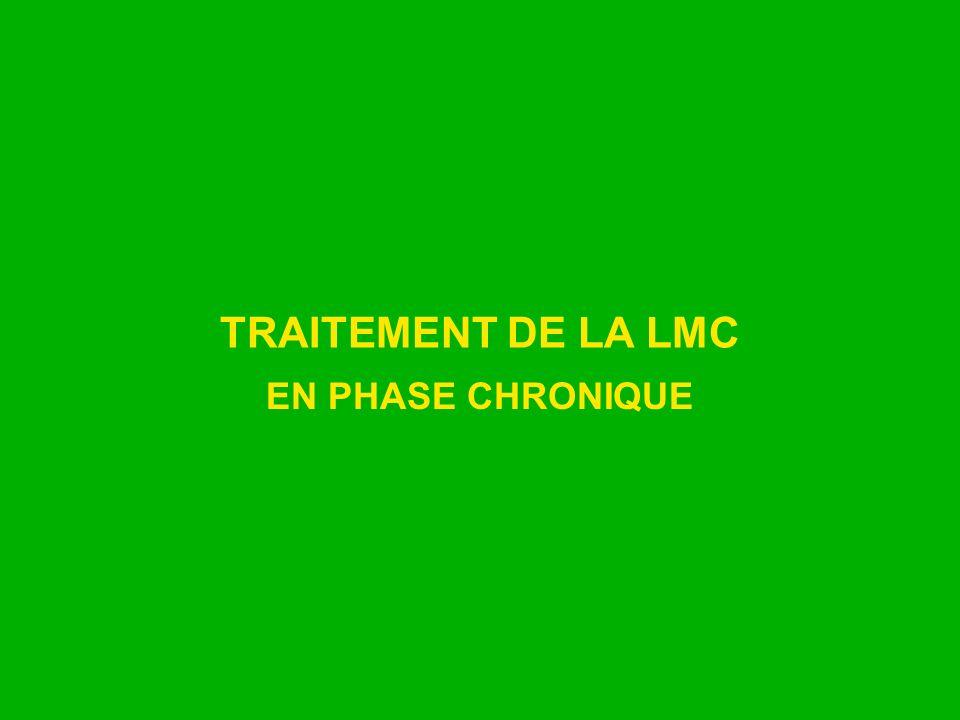 TRAITEMENT DE LA LMC EN PHASE CHRONIQUE