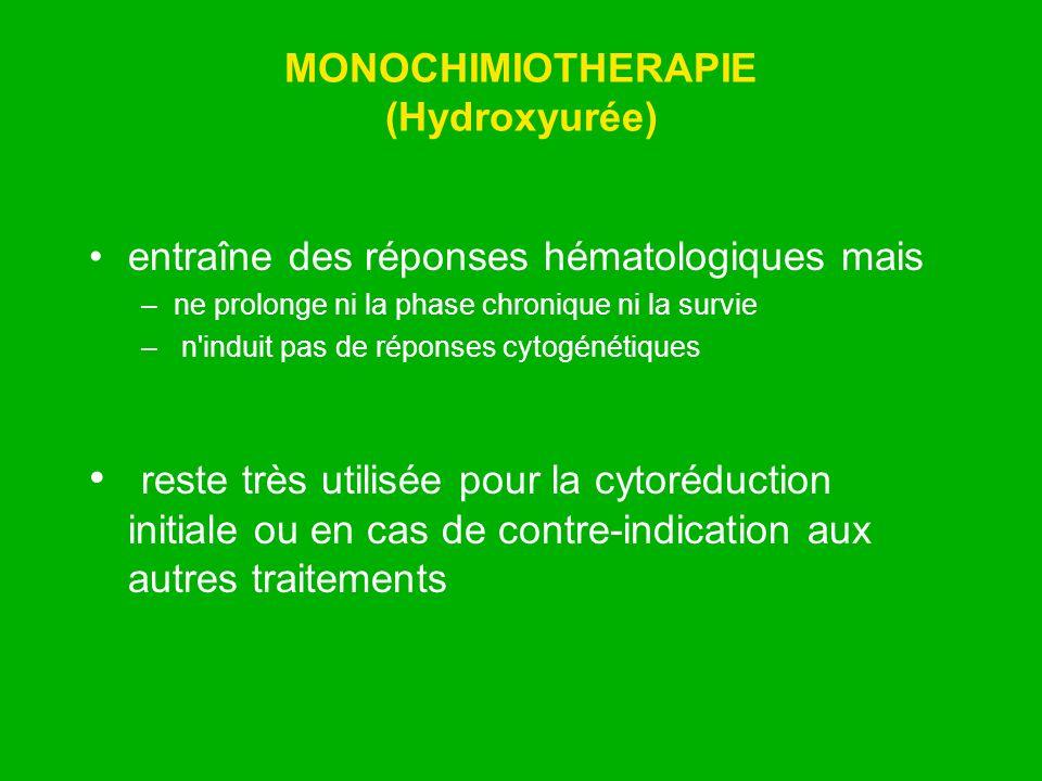 MONOCHIMIOTHERAPIE (Hydroxyurée)