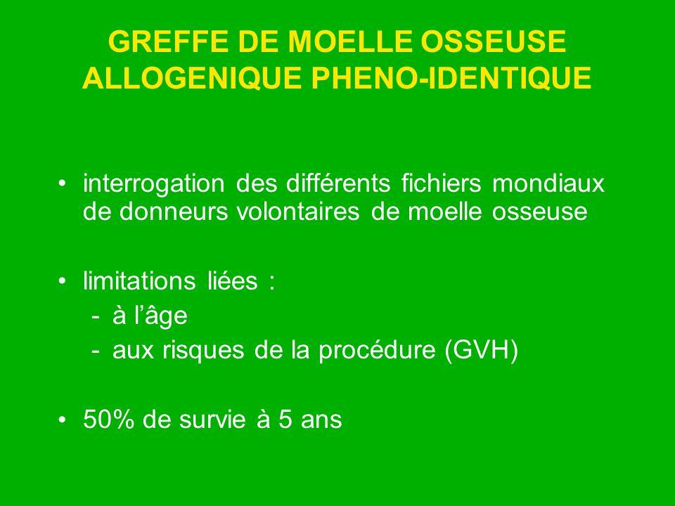 GREFFE DE MOELLE OSSEUSE ALLOGENIQUE PHENO-IDENTIQUE