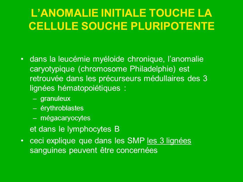 L'ANOMALIE INITIALE TOUCHE LA CELLULE SOUCHE PLURIPOTENTE
