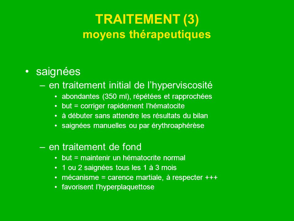 TRAITEMENT (3) moyens thérapeutiques