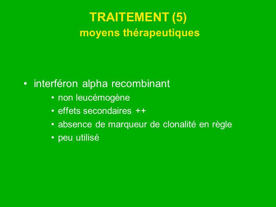 TRAITEMENT (5) moyens thérapeutiques