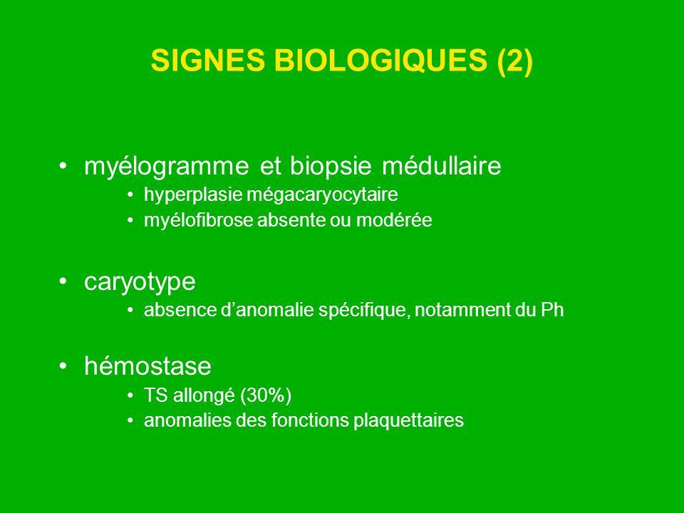 SIGNES BIOLOGIQUES (2) myélogramme et biopsie médullaire caryotype
