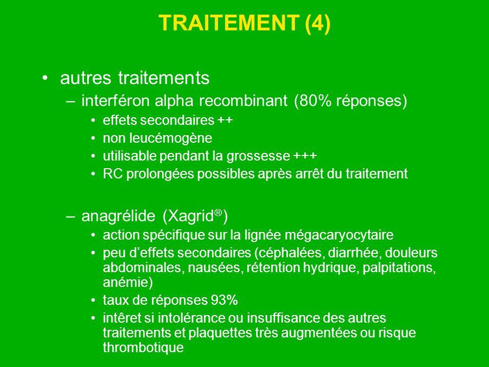 TRAITEMENT (4) autres traitements
