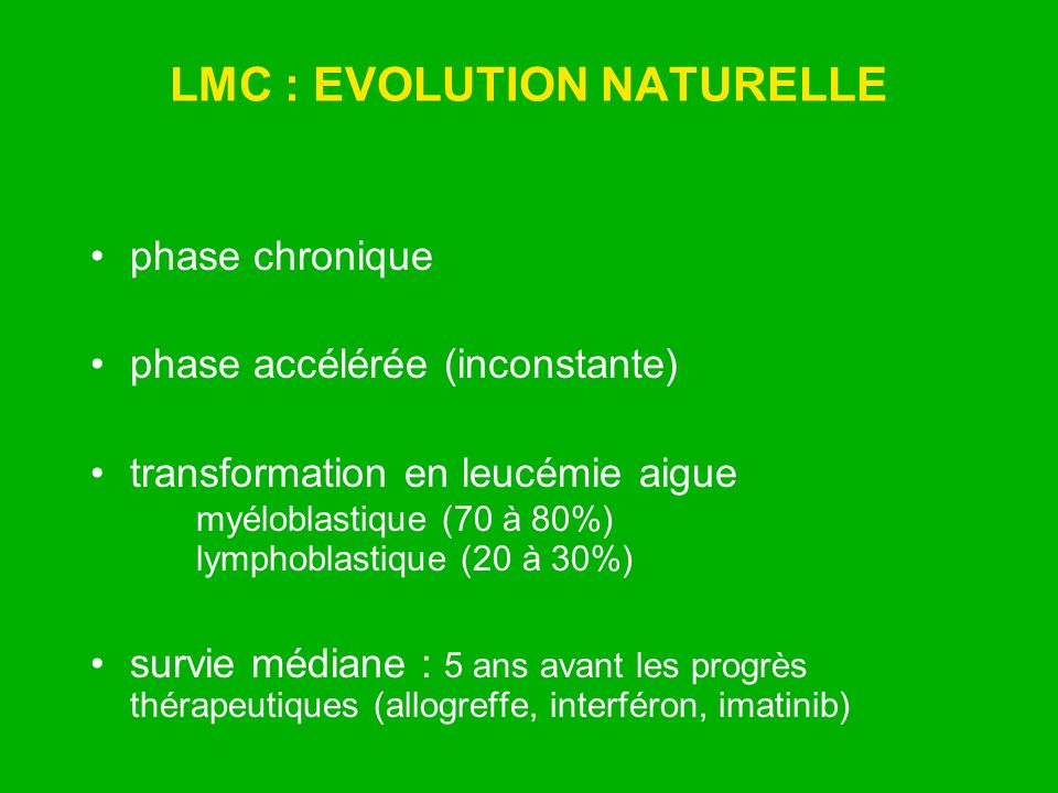 LMC : EVOLUTION NATURELLE
