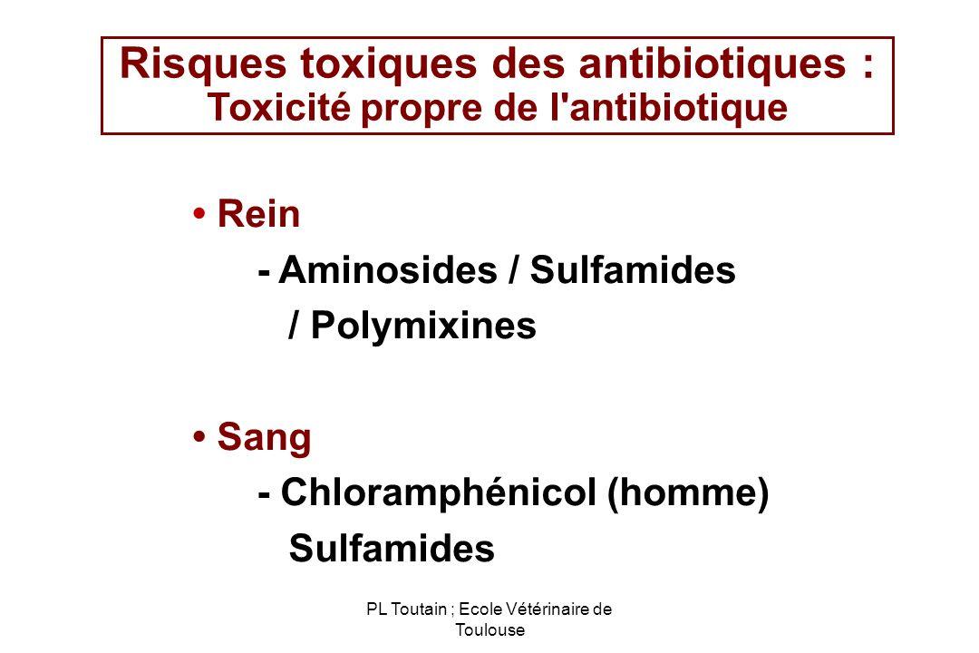 Risques toxiques des antibiotiques : Toxicité propre de l antibiotique